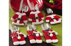 Pack de portacubiertos Santa Claus