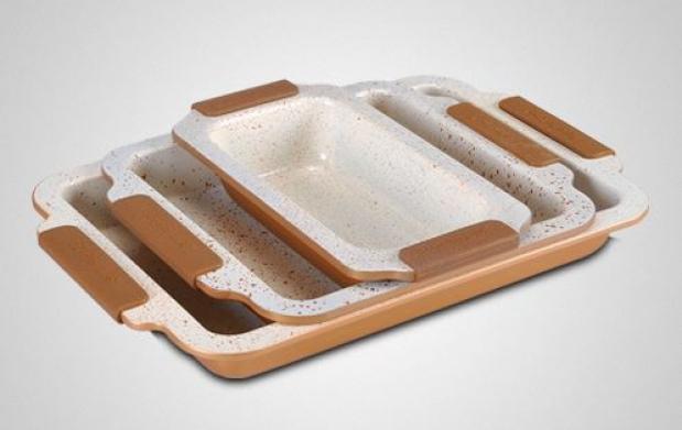 Pack 3 fuentes horno con revestimiento cer mico - Fuentes para horno ...