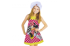 Disney Minnie Mouse, set delantal + gorro